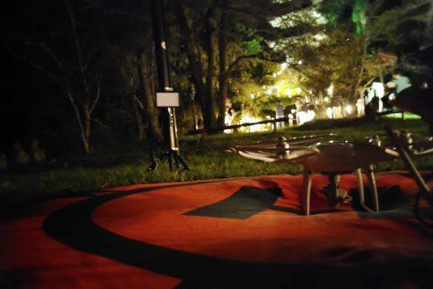 上田青年会議所・認承60周年記念事業9月例会「秋の夜にめっちゃ照らすよ大法寺」ライトアップの空撮